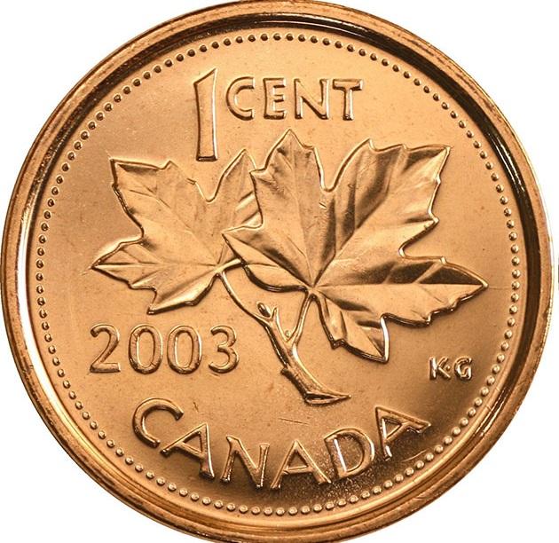 سکه پنی از جنس مس ساخته شده است و در سال 2003 توقف تولید شده است.