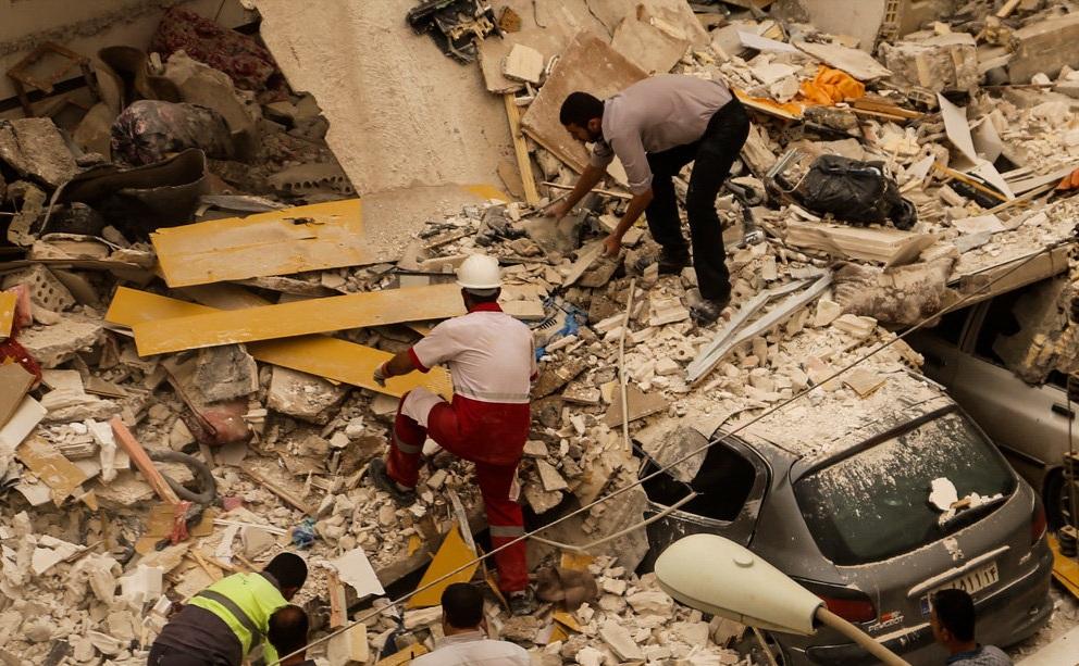 انفجار و ریزش ساختمان مسکونی در پردیس اهواز