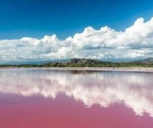 تصاویری از رودخانه صورتی ربتا در سنگال