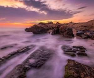 نمای زیبای خلیج فارس از ساحل پارسیان