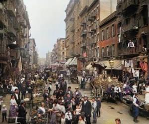 عکس رنگی شده از نیویورک 120 سال پیش