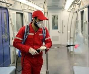 ضدعفونی کردن اتوبوسها و قطارهای شهری برای پیشگیری از کرونا