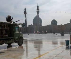 تجهیزات سپاه قم برای ضدعفونی معابر و اماکن