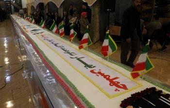 پخت کیک 40 متری در زنجان