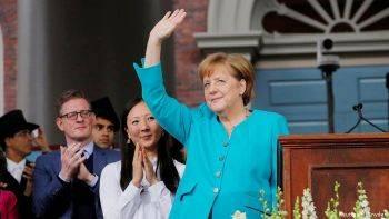 اعطای دکترای افتخاری دانشگاه هاروارد آمریکا به آنگلا مرکل صدراعظم آلمان