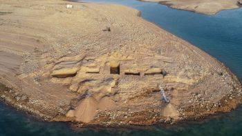 ظاهر شدن یک قلعه ی شگفت انگیز و باستانی در عراق
