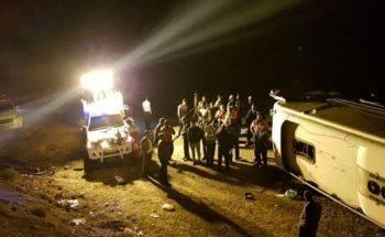 واژگونی اتوبوس مسافربری مشهد – بندرعباس