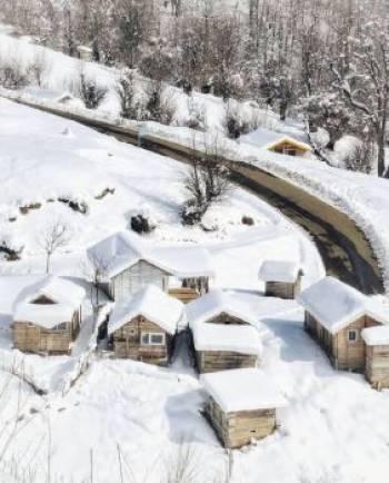 تصویری رویایی از ییلاق اولسبلانگاه ماسال گیلان در فصل زمستان