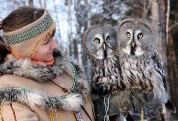 """جغدهای عجیب و زیبا در پارک پرندگان """" رویف روچی"""" در کراسنویارسک"""