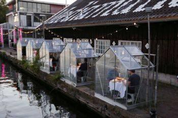 آزمایش رستوران به شکل «اتاقک قرنطینه» در آمستردام