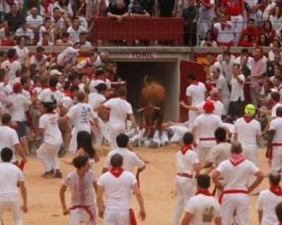 جشنواره سالانه سان فرمین در شهر پامپلونا اسپانیا